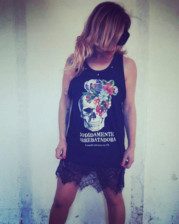 Camiseta Tirantes Calavera Jodídamente Arrebatadora