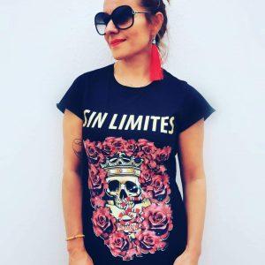 Camiseta Sin Limites (calaveras)